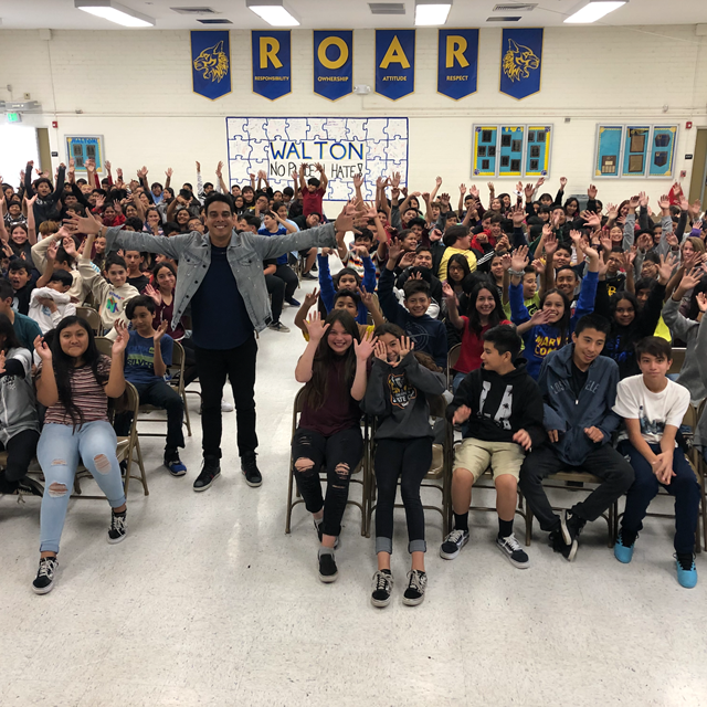 Youth Motivational Speaker: Gabe Salazar, challenging our students to stand up against bullying