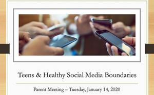 Parent Meeting: Teens & Healthy Social Media Boundaries - article thumnail image