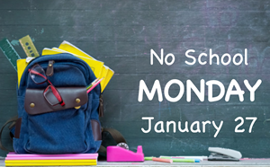 No School Monday, January 27, 2020 - article thumnail image