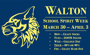 Walton School Spirit Week March 30 - April 3 - article thumnail image