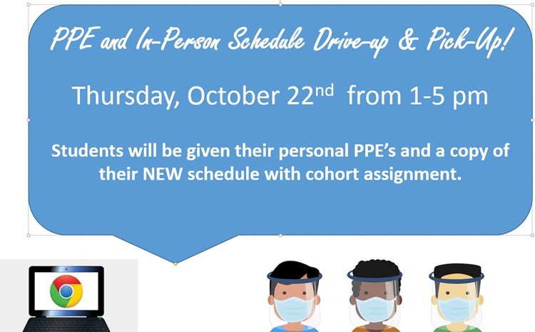 October 22nd - Drive Through For PPE Supplies and In-Person Cohort Schedule - article thumnail image