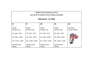 Schedule for February 8 - 19 - article thumnail image