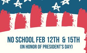 No School Feb 12th & 15th - article thumnail image