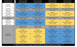 NEW! Hybrid e& Distance Learning Schedule - article thumnail image