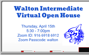 Walton's Virtual Open House: Thursday, April 15th - article thumnail image