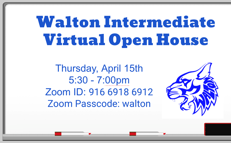 Walton's Virtual Open House: Thursday, April 15th - article thumnail image