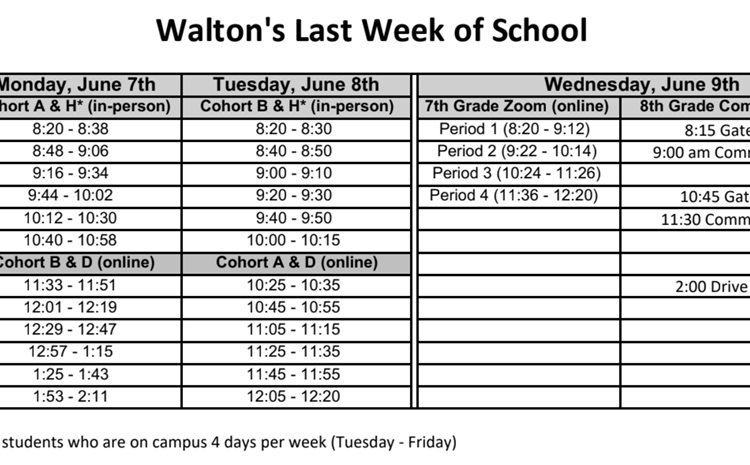Last Week of School Schedule - article thumnail image